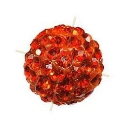 boule de strass 6mm orange