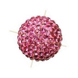 ronde strassbal 6mm rose