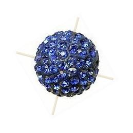 ronde strassbal 8mm koningsblauw