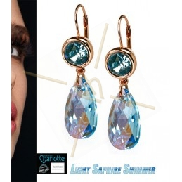 earrings rose gold with...