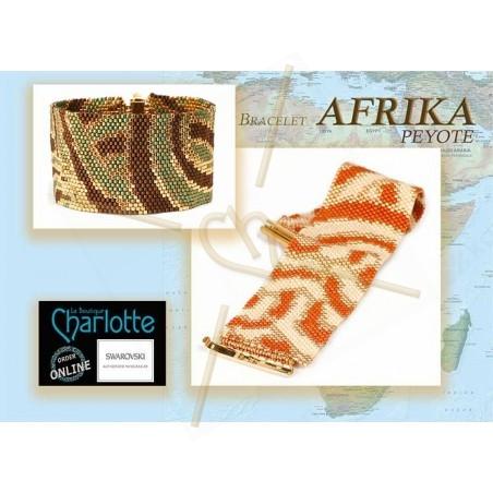 kit bracelet Peyote afrika Orange