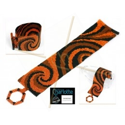 Schema bracelet Wave orange