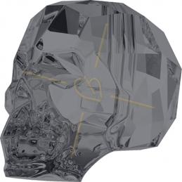 Skull 13mm Swarovski Silver...