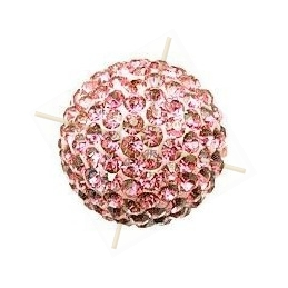 ronde strassbal 10mm Lt. Rose