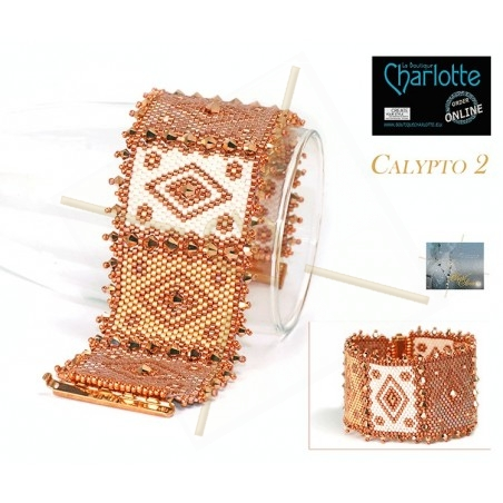 kit bracelet Peyote Calypto Rose Gold