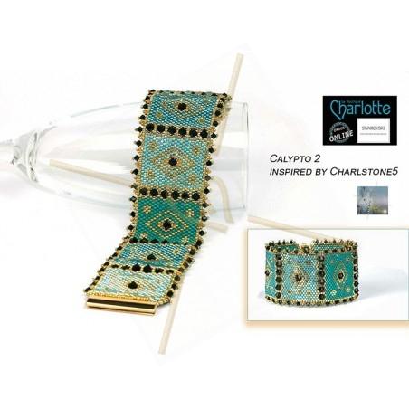 kit bracelet Peyote Calypto Turquoise Gold