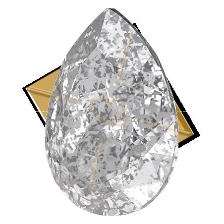4320 14*10mm pear Swarovski Silver Patina