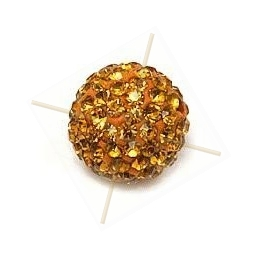 boule de strass 10mm topaz