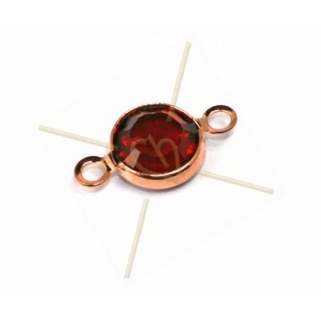 Swarovski strass 14mm SS29 sertie 2 anneau Rose Gold - Siam