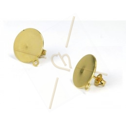 earrings disk 14mm with...