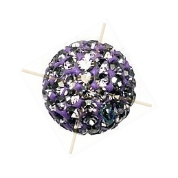 boule de strass 12mm tanzanite