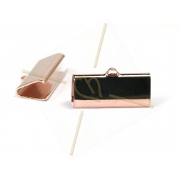 crimp-end 21*9mm Rose gold...