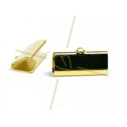 crimp-end 21*9mm gold plated