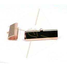 crimp-end 30*9mm Rose gold...