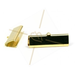 crimp-end 30*9mm gold plated