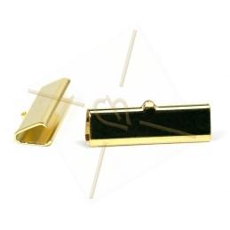 veterklem 30*9mm gold plated