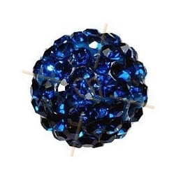 boule de strass 12mm indigo