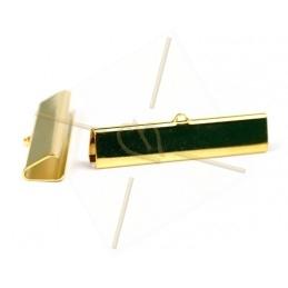 crimp-end 42*9mm gold plated