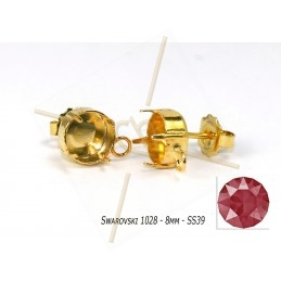 Earring for 1 strass SS39 -...