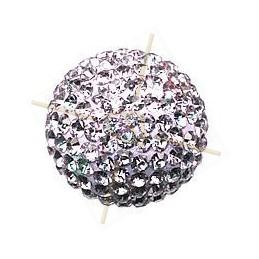 boule de strass 14mm violet