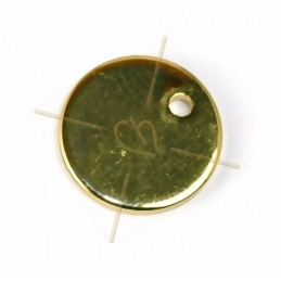 pendentif rond metal 10mm à...