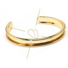 bracelet metal 10mm large gold