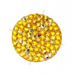 Crystal ROCKS 24mm Jaune Ocre