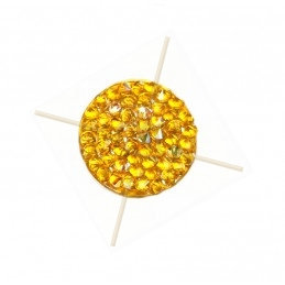 Crystal Rocks 15mm ocher...