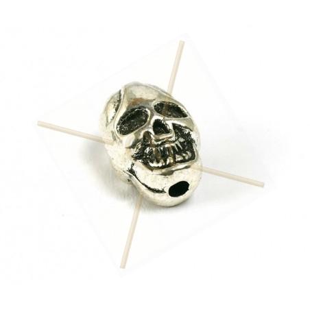 """tussenstuk metaal """"skull"""" 10mm rhodium"""