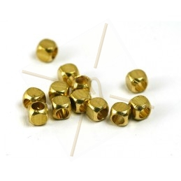 spacer cube 3mm gold plated
