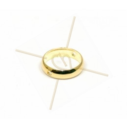 anneau metal 12mm à 2 trous...