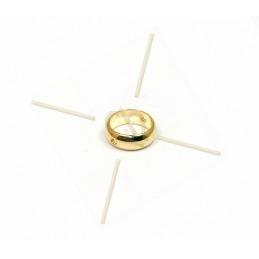 anneau metal 9mm à 2 trous...