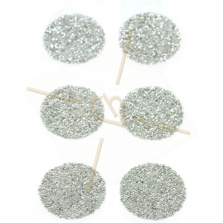 6 x Pastille 24mm rond Swarovski Crystal Fabric-it Cal