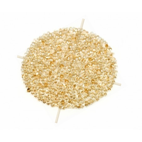 Pastille 24mm rond Swarovski Crystal Fabric-it Golden Shadow