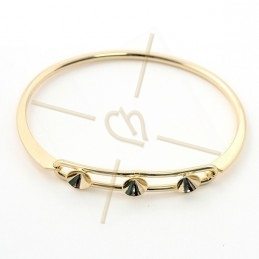 bracelet metal for 3 strass...