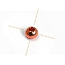 boule metal 3*2mm trou 1.3mm or rose