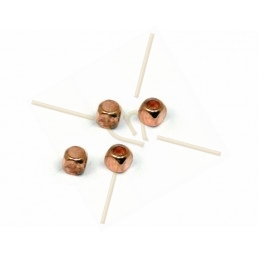 spacer cube 2.5mm rose gold