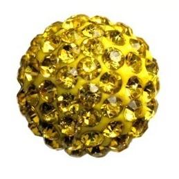 ronde strassbal 6mm geel