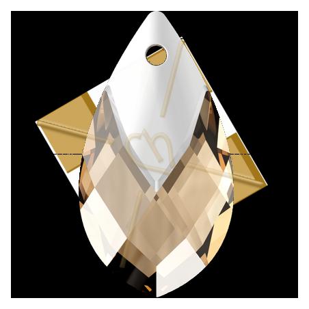 6565 Met Cap Pear-shaped hanger 18mm Light colorado Topaz - Light Chrome Z