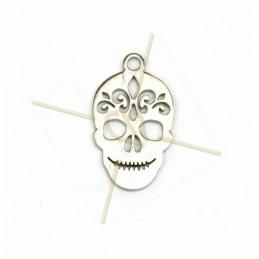 "pendentif acier ""skull""..."
