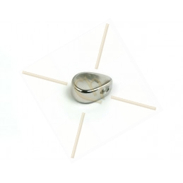 hangertje metaal druppel 6*4mm