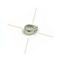 pendentif metal goutte 6*4mm