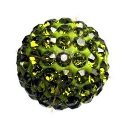 ronde strassbal 6mm olivine