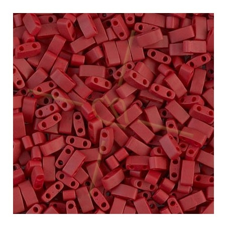 Half Tila Miyuki 5*2mm Brick Red Mat