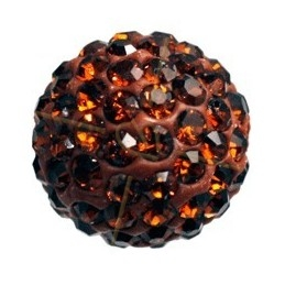 ronde strassbal 8mm smoked topaz