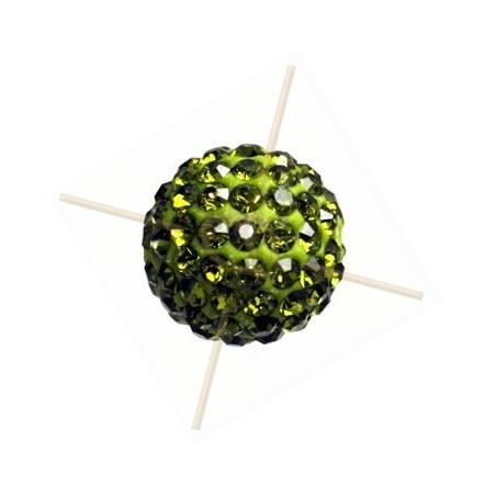 ronde strassbal 10mm olivine