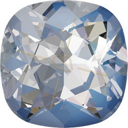 Nib-Bit bead 6*5mm Crystal Silver Rainbow