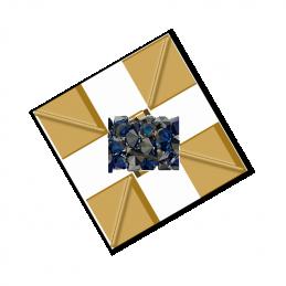 leder plat 3mm zwart