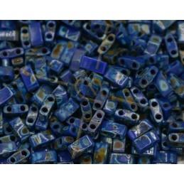 Half Tila Miyuki 5*2mm Bleu...