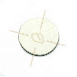 Leather round 20mm white